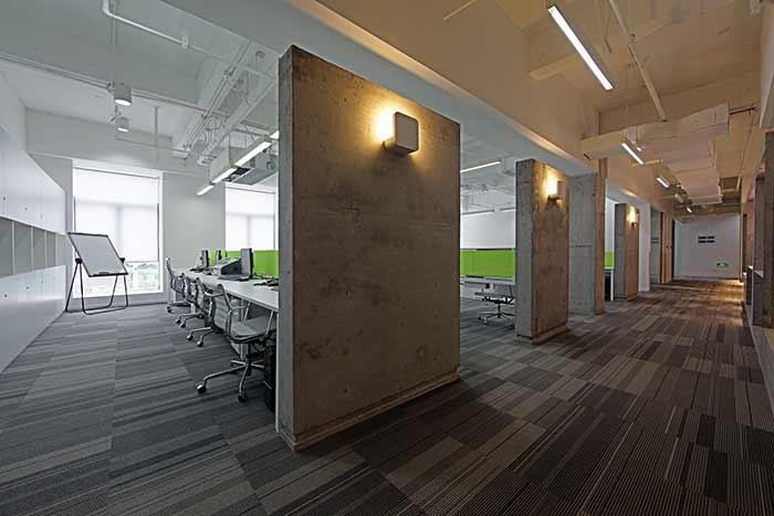 公司走廊墙面3d手绘